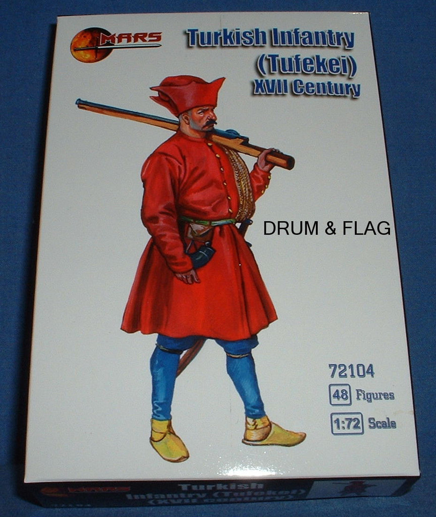 MARS 72104 TURKISH INFANTRY (Tufekei). XVII Century - 1/72 SCALE