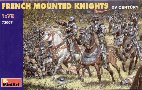 MINIART 72007 FRENCH MOUNTED KNIGHTS. 1:72 SCALE MEDIEVAL. XV CENTURY