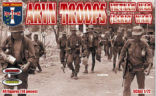 Orion 72051 Vietnam War ARVN troops (early war). 1/72 Scale Plastic Figures