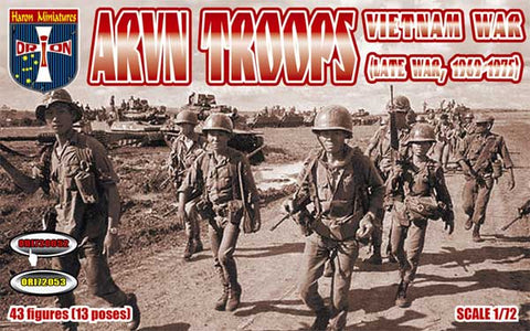 Orion 72052. Vietnam War ARVN troops (late war, 1969-1975).1/72 Scale Plastic Figures