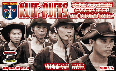 Orion 72053 Ruff-Puffs (South Vietnamese Regional Force and Popular Force). Vietnam War.1/72 Scale Plastic Figures