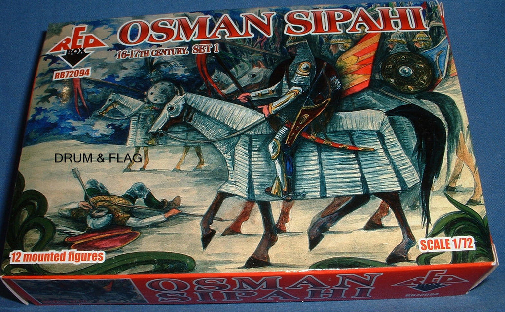 REDBOX 72094 OSMAN SIPAHI SET 1 16th & 17th Century 1:72 SCALE UNPAINTED PLASTIC