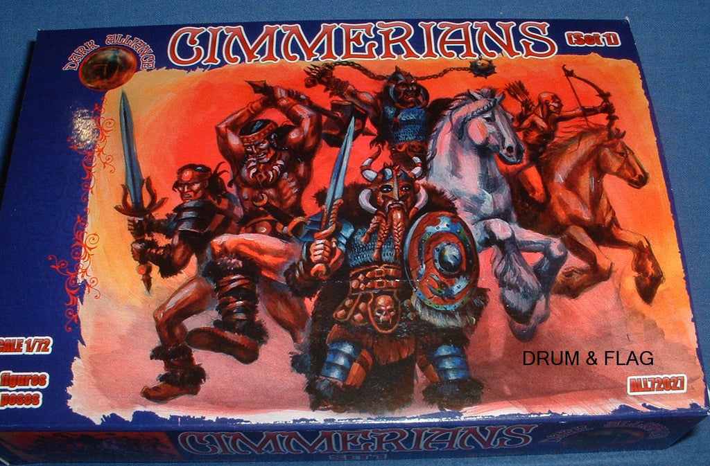 Copy of Copy of DARK ALLIANCE #72027. CIMMERIANS set 1. 1/72 SCALE FANTASY BARBARIANS
