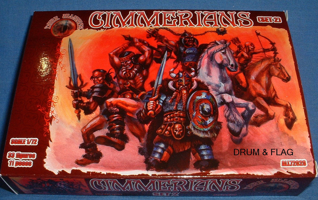 Copy of DARK ALLIANCE #72028. CIMMERIANS. 1/72 SCALE FANTASY BARBARIANS