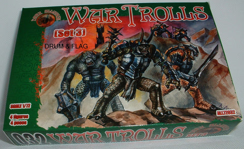 DARK ALLIANCE 72032 - WAR TROLLS set #2. 1/72 SCALE. Not GW