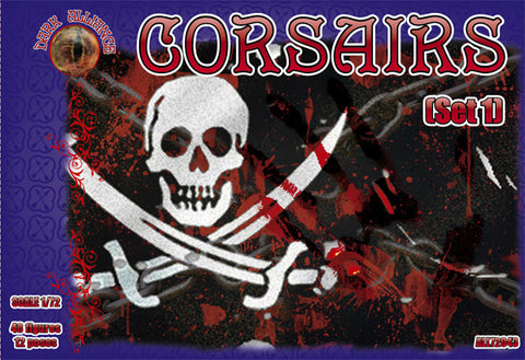 DARK ALLIANCE 72043 CORSAIRS SET #1 - 1/72 SCALE. PIRATES
