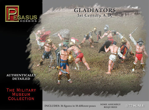 PEGASUS 7100. GLADIATORS. 1/72 SCALE. ROMAN ERA.