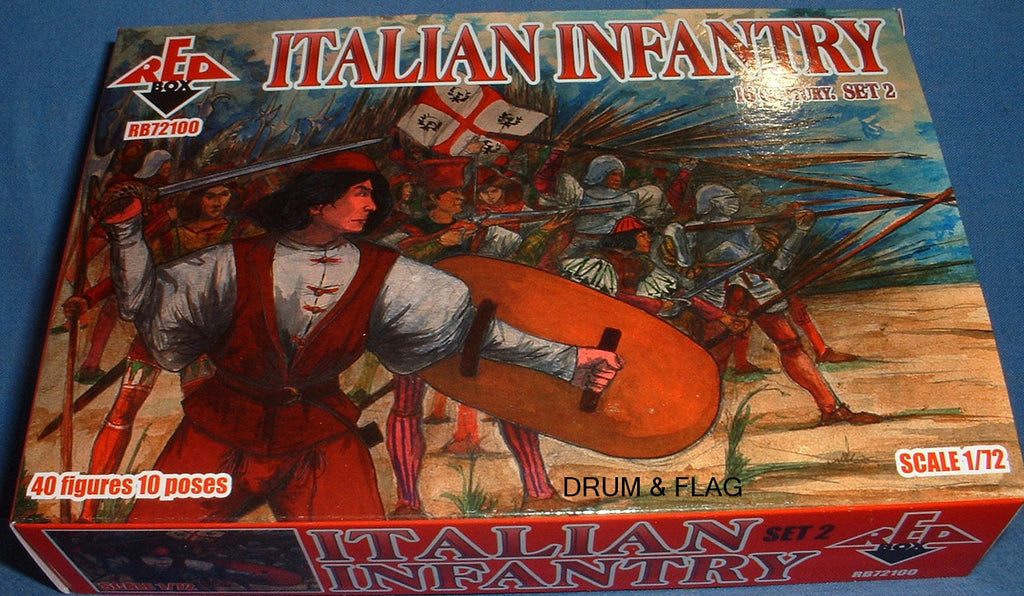 REDBOX 72100 ITALIAN INFANTRY SET 2 16th Century 1:72 SCALE
