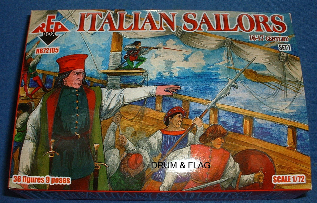REDBOX 72105 ITALIAN SAILORS SET 1 16-17th Century 1:72 SCALE