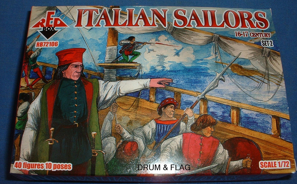 REDBOX 72106 ITALIAN SAILORS SET 2 16-17th Century 1:72 SCALE