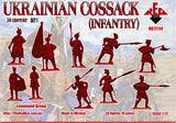 RedBox 72114 Ukrainian Cossack (Infantry) Set #1 - 1/72 scale