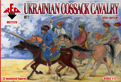RedBox 72126 Ukrainian Cossack Cavalry Set 2. 16th Century. 1/72 scale.