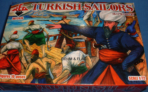 REDBOX 72078 TURKISH SAILORS. 1:72 SCALE UNPAINTED PLASTIC