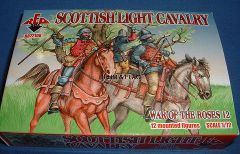 REDBOX 72108 SCOTTISH LIGHT CAVALRY WAR OF THE ROSES 1:72 SCALE
