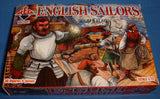 REDBOX 72081 ENGLISH SAILORS. 1:72 SCALE UNPAINTED PLASTIC