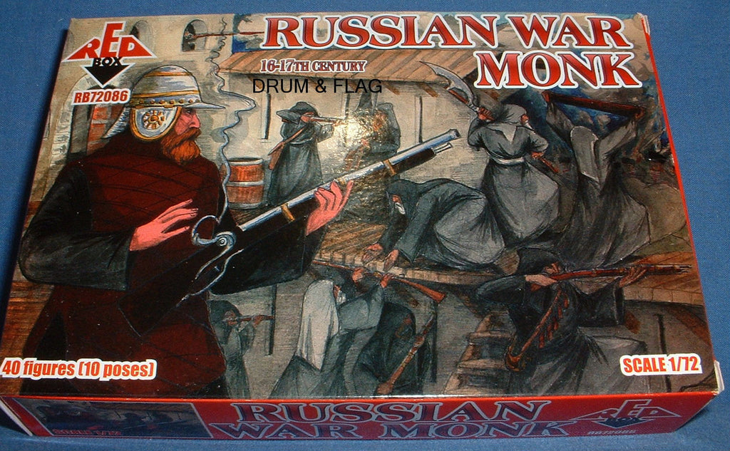 REDBOX 72086 RUSSIAN WAR MONKS 16-17th Century. 1/72 SCALE.