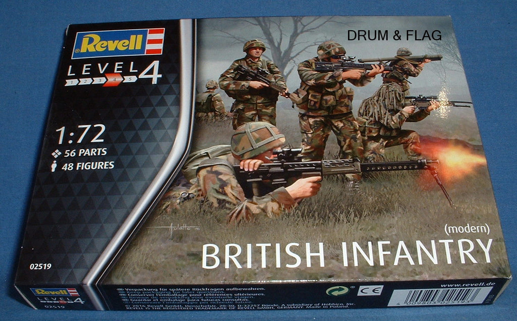 REVELL 02519. BRITISH INFANTRY (MODERN). 1/72 SCALE. 48 FIGURES