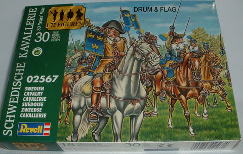 REVELL 02567 THIRTY YEARS WAR SWEDISH CAVALRY. 1/72 SCALE 15 MOUNTED TYW FIGURES
