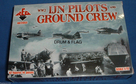 REDBOX 72053 WW2 IMPERIAL JAPANESE NAVY (IJN) PILOTS & GROUND CREW. 1/72 SCALE