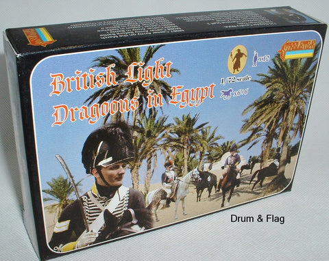STRELETS 119 NAPOLEONIC BRITISH LIGHT DRAGOONS IN EGYPT 1/72 SCALE PLASTIC
