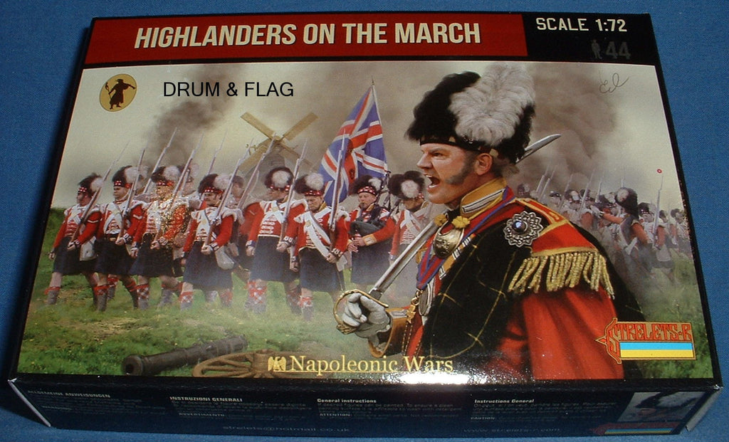 STRELETS Set 140 - HIGHLANDERS ON THE MARCH - NAPOLEONIC - 1/72 SCALE