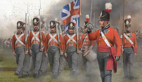 STRELETS Set 141 - BRITISH INFANTRY ON THE MARCH - NAPOLEONIC - 1/72 SCALE.
