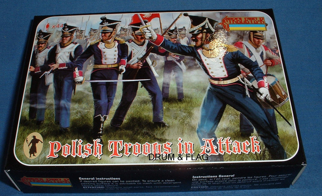 STRELETS Set 144 - POLISH TROOPS IN ATTACK - NAPOLEONIC WARS - 1/72 SCALE