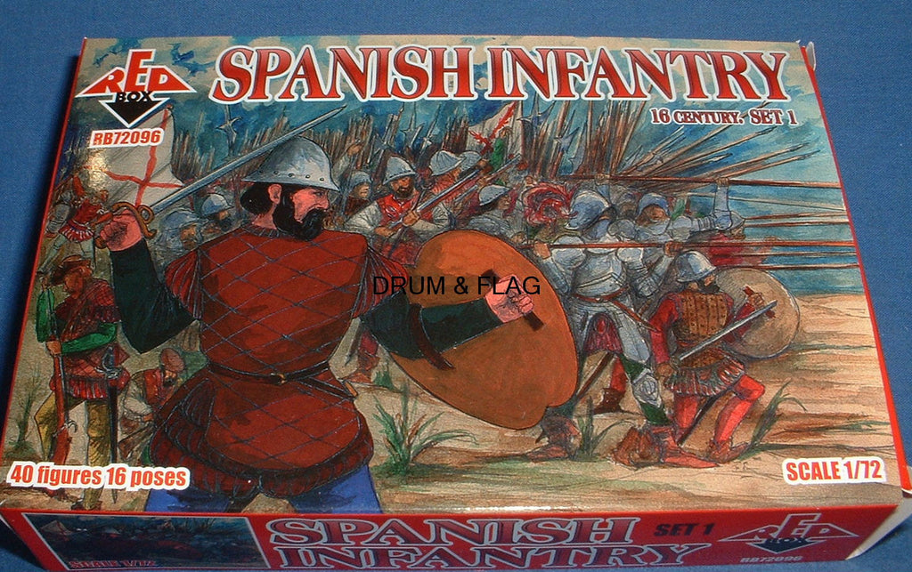 REDBOX 72096 SPANISH INFANTRY SET 1 16th Century 1:72 SCALE