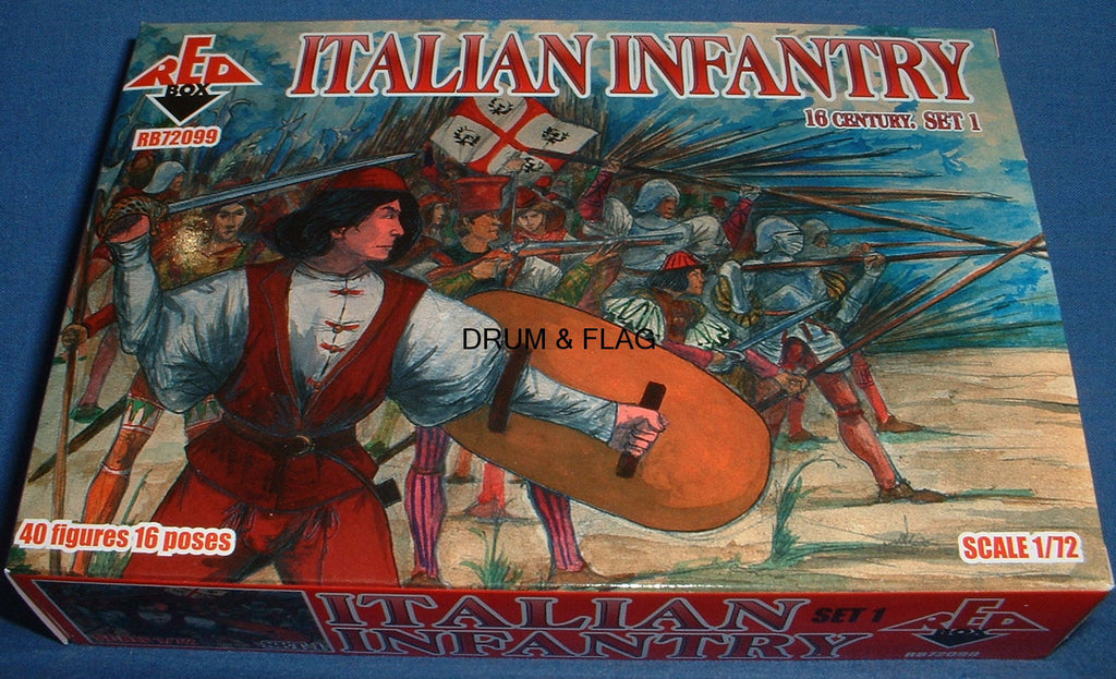 REDBOX 72099 ITALIAN INFANTRY SET 1 16th Century 1:72 SCALE