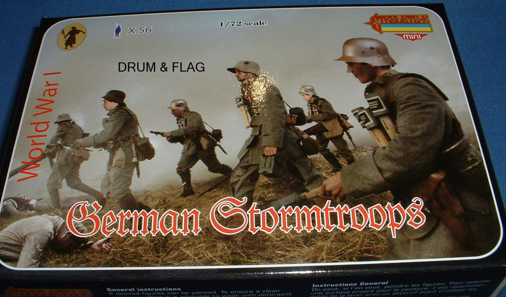 STRELETS M 55. GERMAN STORMTROOPS. WW1. 1:72 Scale. Stormtroopers