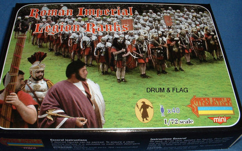 STRELETS SET M 100. ROMAN IMPERIAL LEGION RANKS. 1/72 SCALE. 40 FIGS