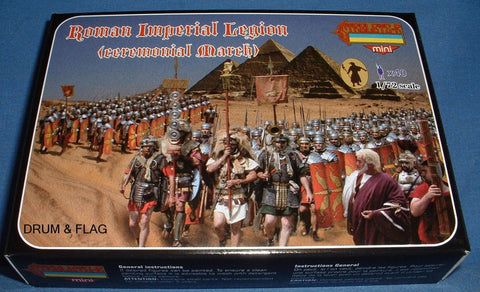 STRELETS SET M 101. ROMAN IMPERIAL LEGION CEREMONIAL MARCH. 1/72 SCALE. 40 FIGS