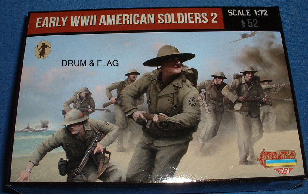STRELETS SET M 113. EARLY WWII AMERICAN SOLDIERS 1/72 SCALE