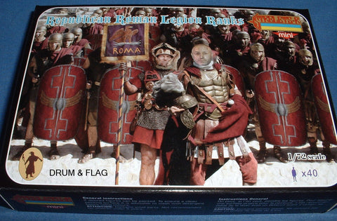 STRELETS SET M 199. REPUBLICAN ROMAN LEGION RANKS. 1/72 SCALE. 40 FIGS