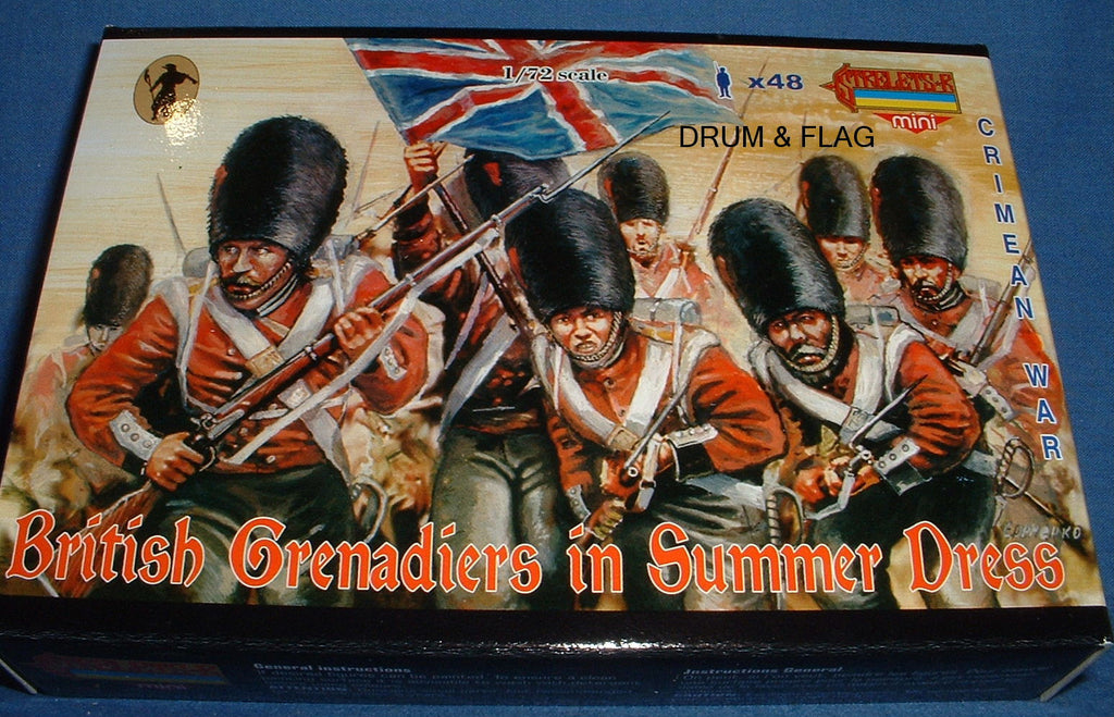 STRELETS M 32 CRIMEA -  BRITISH GRENADIERS SUMMER DRESS. 1:72 SCALE. CRIMEAN WAR
