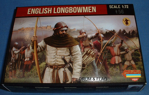 STRELETS Set M117 - ENGLISH LONGBOWMEN - 1/72 SCALE