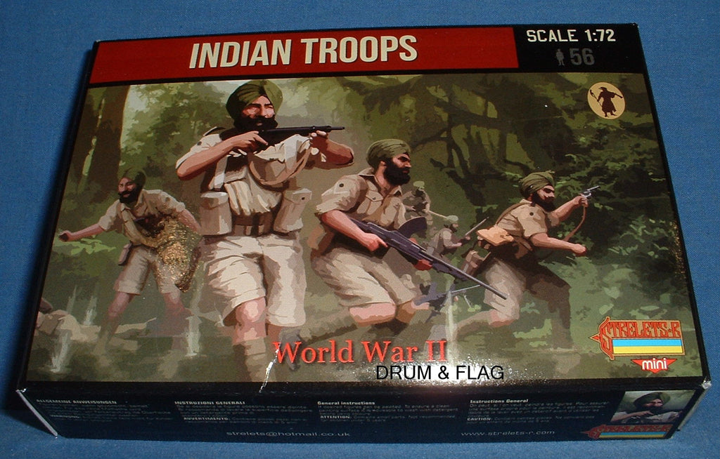STRELETS Set M119 - INDIAN TROOPS - WW2 - 1/72