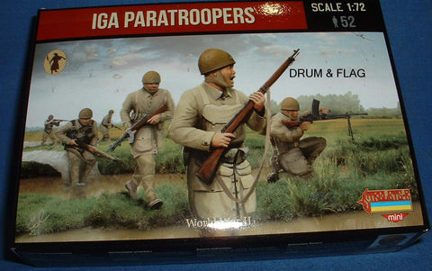 STRELETS SET M 120. WW2 JAPANESE IJA PARATROOPERS. 1/72 SCALE. 52 FIGS