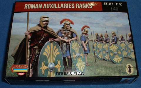 STRELETS SET M 124. ROMAN AUXILIARIES RANKS. 1/72 SCALE. 40 FIGS