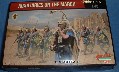 STRELETS SET M 125. ROMAN AUXILIARIES ON THE MARCH. 1/72 SCALE. 40 FIGS