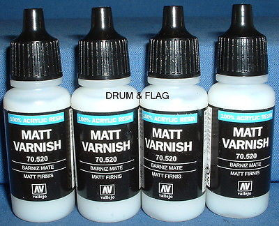 VALLEJO MATT VARNISH (Code 70.520) - 4 x 17ml bottles. DF38.