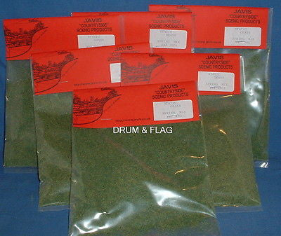 JAVIS - HAIRY GRASS - SPRING - STATIC GRASS - 20g BAG X 6. SIX BAGS.