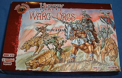 DARK ALLIANCE - HEAVY WARG ORCS. 1/72 SCALE UNPAINTED PLASTIC FANTASY FIGURES