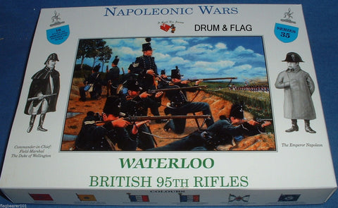 A CALL TO ARMS SET #35. BRITISH 95th Rifles 1/32 SCALE. NAPOLEONIC