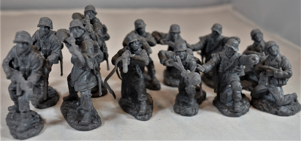 TSSD #11A WWII GERMAN ELITE TROOPS. c60mm Unpainted Plastic