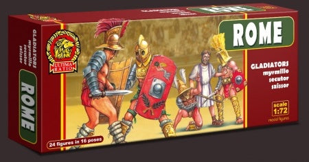 ULTIMA RATIO Set UR010 ROME - Gladiators. 1/72 Scale