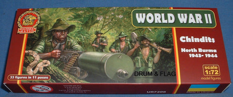 ULTIMA RATIO SET 7206 CHINDITS - NORTH BURMA 1943-44. WW2 1/72 SCALE