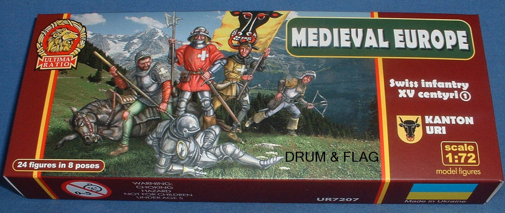ULTIMA RATIO SET 7207 MEDIEVAL SWISS INFANTRY SET 1 KANTON URI. 1/72 SCALE