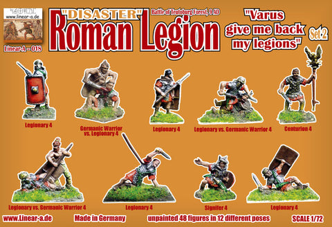 "Linear-A 018 Roman Legion Set 2. Disaster. ""Varus Give me back my Legions"" 1/72 scale."