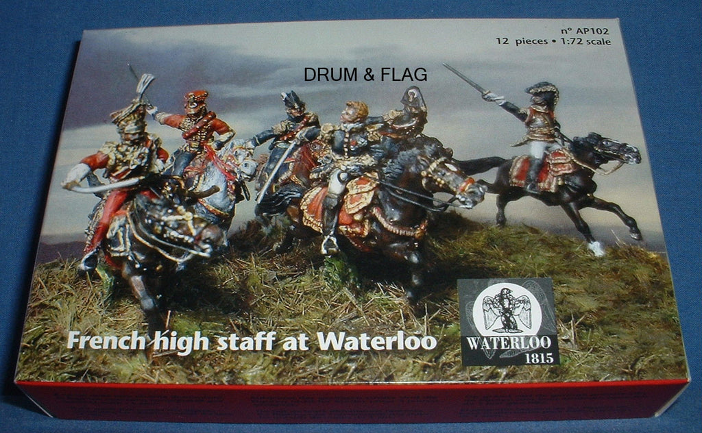 FRENCH HIGH COMMAND STAFF AT WATERLOO.  WATERLOO 1815 AP102.  1/72 SCALE.  6 MOUNTED METAL FIGURES.
